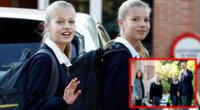 Escolar infectado por COVID-19 no compartía las carpetas con las hijas de los reyes de España