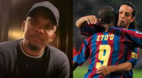Ronaldinho, Samuel Eto'o y Lionel Messi formaron un gran tridente.
