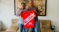 El técnico del Sport Huancayo, Valencia contento con cuidado de sus jugadores.