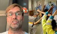 Klopp y su reconocimiento a los médicos que luchan contra el coronavirus.