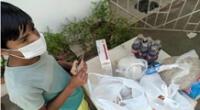 La Fundación Calentando Corazones se encontraba a 8km de la casa del menor y estaba regalando canasta de alimentos para las familias con bajos de recursos económicos.