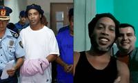 Ronaldinho, vive un martirio en la prisión de Paraguay por presentar documentación falsa.