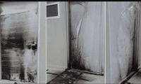 El incendio terminó dañando las puertas y ventanas del centro de salud.