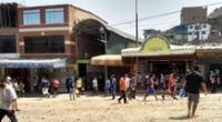 Mercado de Collique en Comas.