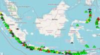 Actividad volcánica en Indonesia