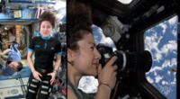 Astronauta Jessica Meir captó importantes imágenes espaciales | FOTO: NASA / Composición