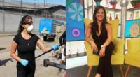 Giovanna Valcárcel hizo un enlace en vivo para Mujeres al mando.