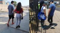 Usuarios reportaron parejas en Plaza Vea y Tottus. Fotos: Twitter