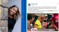 Natalia Málaga y su comentario de Facebook.
