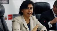 Sylvia Cáceres, ministra de Trabajo y Promoción del Empleo.