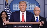"""Donald trump indicó que """"el mundo fue golpeado por la plaga de China""""."""