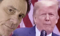El actor sacó un papel higiénico, se sopló la nariz y se lo pegó en la cara a Trump al finalizar el video.