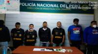 Algunos de los detenidos en el Callao
