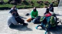Europeos querían acampar en nevado en pleno estado de emergencia.