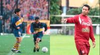 El primer día que entrenaron juntos, dice Ñol Solano, dejó sorprendido a Maradona por sus tiros libres en Boca Juniors.