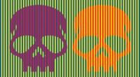Ilusión óptica del color del cráneo