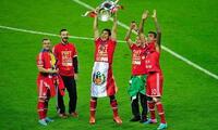 Pizarro cuando ganó la Champions con Bayern.