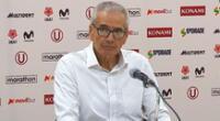 Gregorio Pérez, técnico de Universitario sabe que ninguna de las sedes guardan condiciones higiénicas.