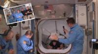 Revive el momento en que Behnken y Hurley ingresaron a la Estación Espacial Internacional.