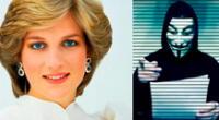 Anonymous habla sobre la muerte de la princesa Diana.