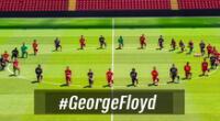 Liverpool rindió homenaje a George Floyd.