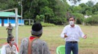 """Martín Vizcarra se reunió con miembros de la comunidad indígena """"El Pilar""""."""