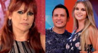 Magaly Medina criticada por no denunciar relación de Brunella Horna y Renzo Costa.