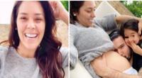 Karen Schwarz luce esbelta figura luego de dar a luz a su bebé.