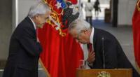 El presidente de Chile, Sebastián Piñera y el ministro de Salud chileno, Jaime Mañalich.