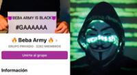 Usuarios comparan a la Beba Army con Anonymous.