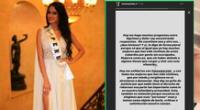 Jossmery Toledo recibe el respaldo de ex candidata al Miss Perú tras difusión de video íntimo