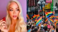 Sheyla Rojas celebra el día del orgullo Gay.