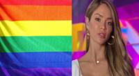 Sheyla Rojas se suma la celebración del Mes del Orgullo Gay.