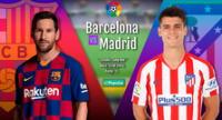 Conoce todos los detalles del Barcelona vs. Atlético de Madrid que se disputa hoy.