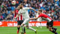 Real  Madrid va por la victoria ante el A. Bilbao.