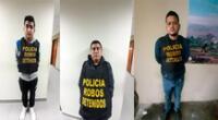 Los detenidos fueron llevados a la Dirincri