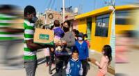 Empresa privada apoyo en alimentar a los más necesitados.