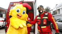 Día del pollo a la brasa benefició a bomberos.