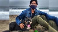 Andres Wiese disfruta de los momentos al lado de su mascota.