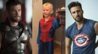 """""""Capitán América"""" le enviará escudo a niño y """"Thor"""" lo saludó por su valentía."""