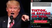 """Campaña presidencial de Trump:""""TikTok te está espiando"""""""
