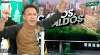 Carlos Galdós feliz por el cierre de Radio Capital.