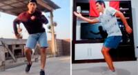 Josepth y  Alejandro desarrollando sus pasos de bailes en TikTok.