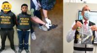 Los intervenidos, el arma y el coronel PNP Carlos Céspedes
