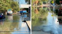 Aniego de aguas servidas sorprendió a los vecinos desde el domingo y al no tener agua potable, el olor es insoportable.
