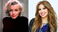 La cantante Thalía usó efectos y montaje para caracterizar a la actriz Marilyn Monroe.