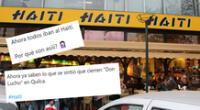 Café-restaurante Haití causó revuelo en las redes sociales.