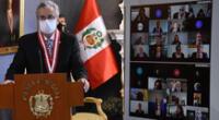 Presidente del Poder Judicial rindió homenaje por el día del juez y la jueza