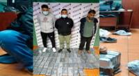 Los detenidos y los paquetes tipo ladrillos con la droga