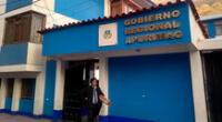 Dicha diligencia se viene desarrollando en el marco de una investigación que se le sigue por presuntos actos de corrupción en la compra de 10 ambulancias del gobierno regional de Apurímac.